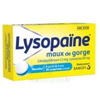 LysopaÏne Comprimés à Sucer Maux De Gorge Sans Sucre 2t/18 à AIX-EN-PROVENCE