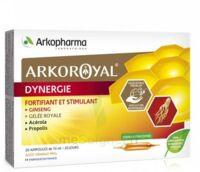 Arkoroyal Dynergie Ginseng Gelée Royale Propolis Solution Buvable 20 Ampoules/10ml à AIX-EN-PROVENCE
