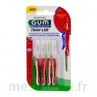 Gum Trav - Ler, 0,8 Mm, Manche Rouge , Blister 4 à AIX-EN-PROVENCE