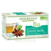 Herbesan Infusion Bio Tisane Transit Facile 20 Sachets à AIX-EN-PROVENCE